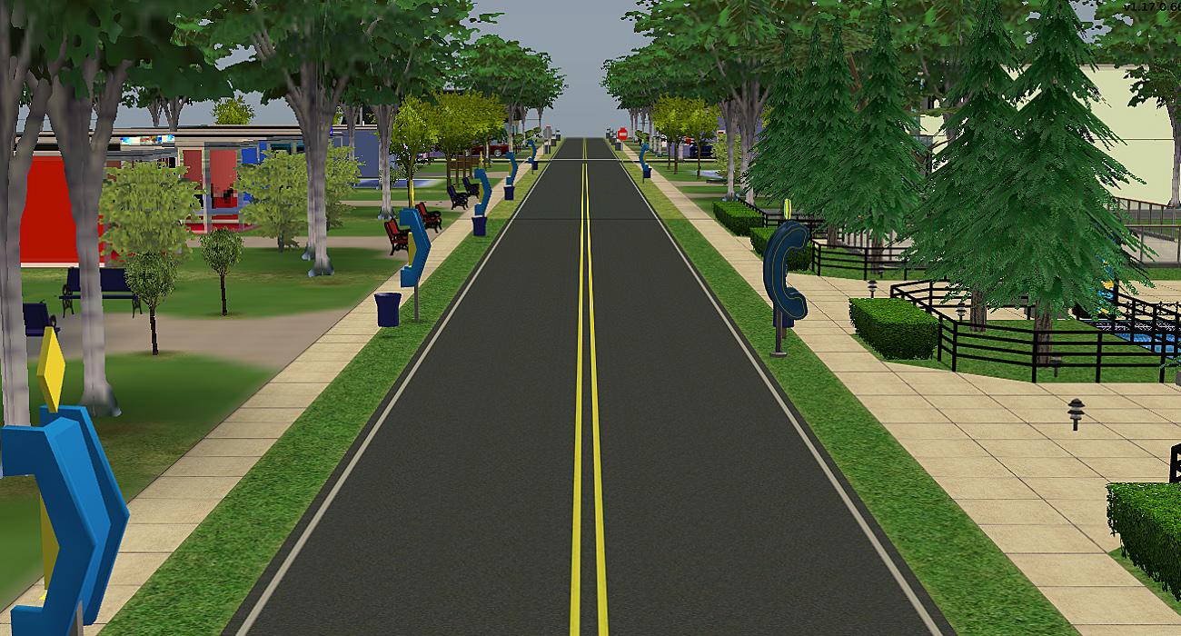 mod the sims freshly paved asphalt roads. Black Bedroom Furniture Sets. Home Design Ideas