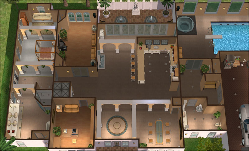 Mod The Sims Saraceno Luxury Mediterranean Villa 3 BR 4 BA