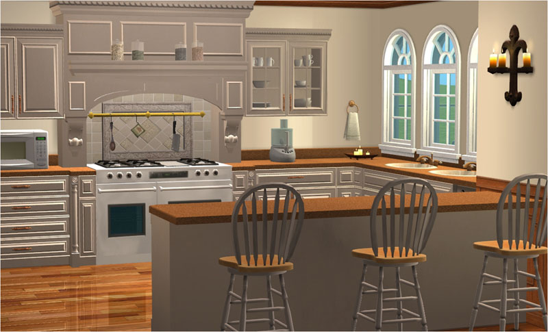 Mod the sims ashmont country estates series english for Sims 3 kitchen ideas