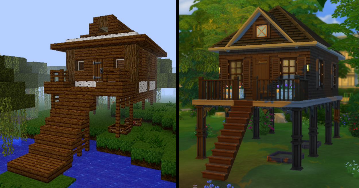 Mod The Sims Dark Oak Swamp House