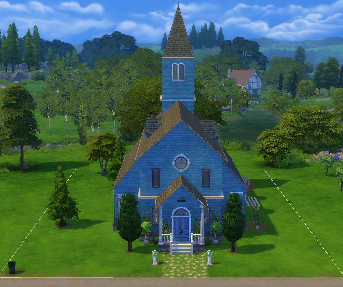 Wedding Altar Sims: Summery Country Church