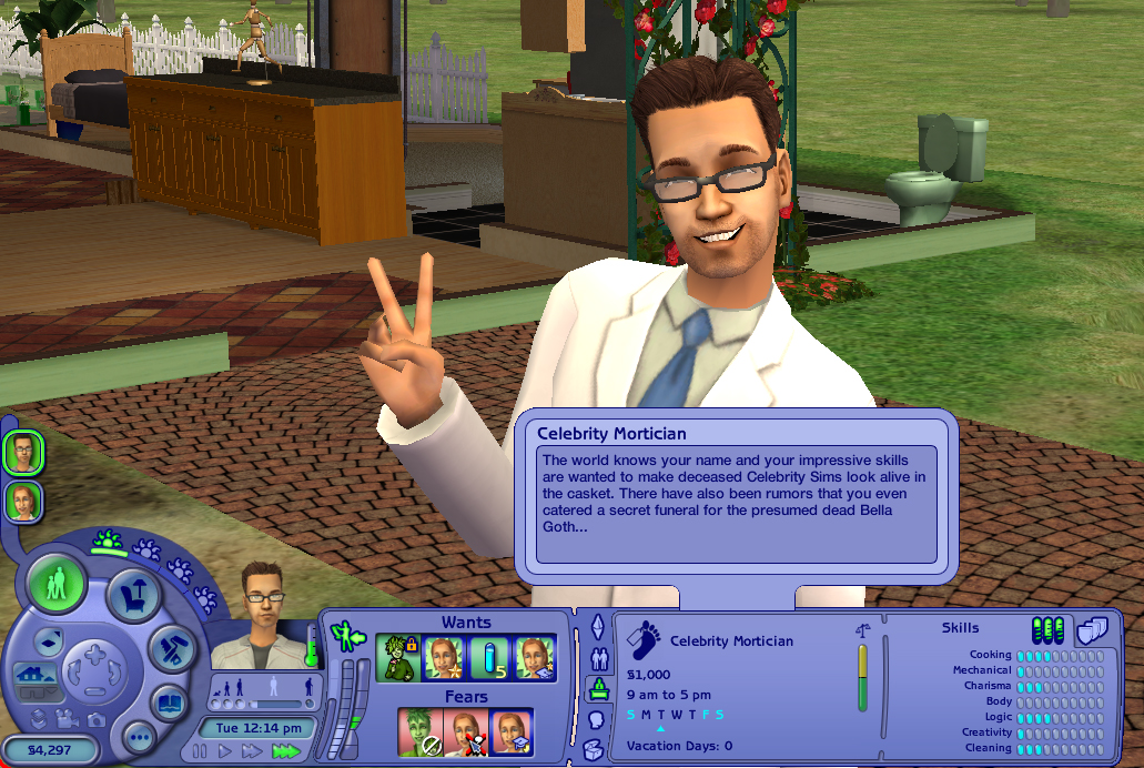 Mod The Sims  Mortician Career