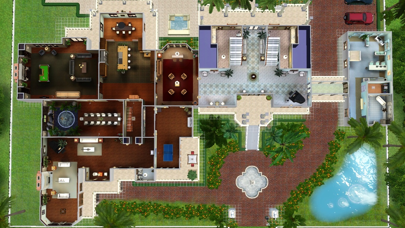 The Sims 3 Celebrity Mansion Download World - dedalmoney