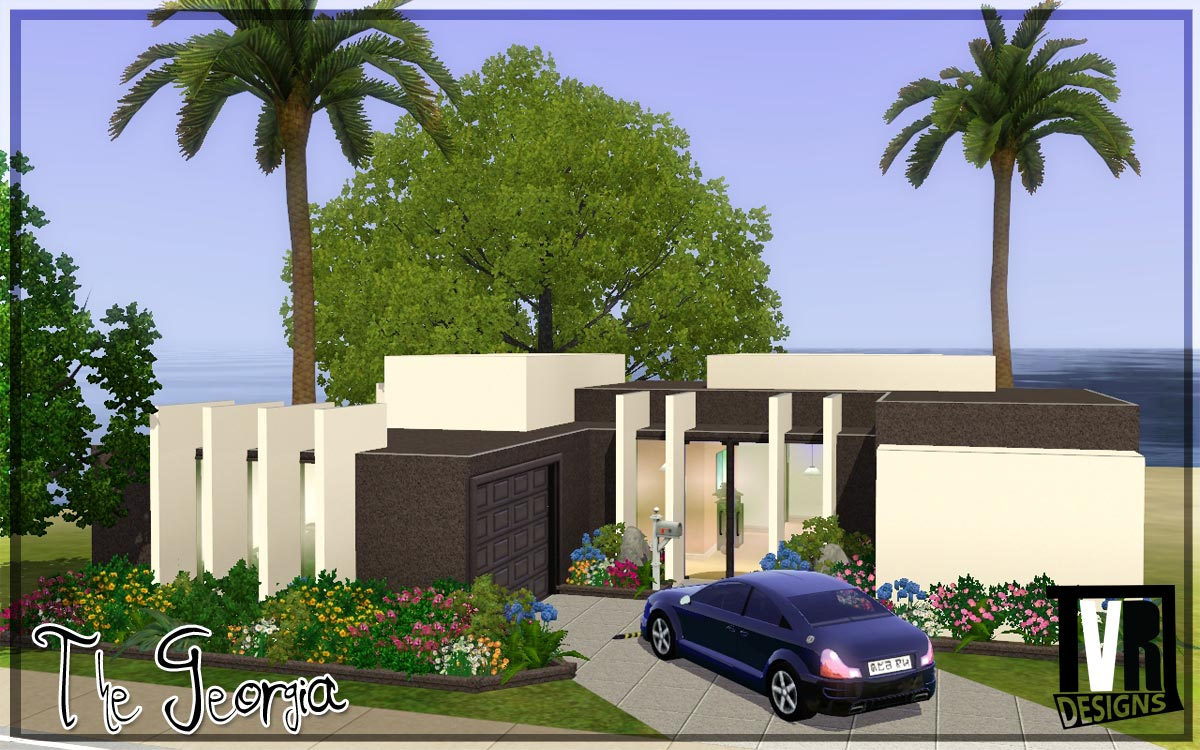 Mod the sims the georgia a preview no cc by tvrdesigns for Construire une maison sims 3 xbox 360