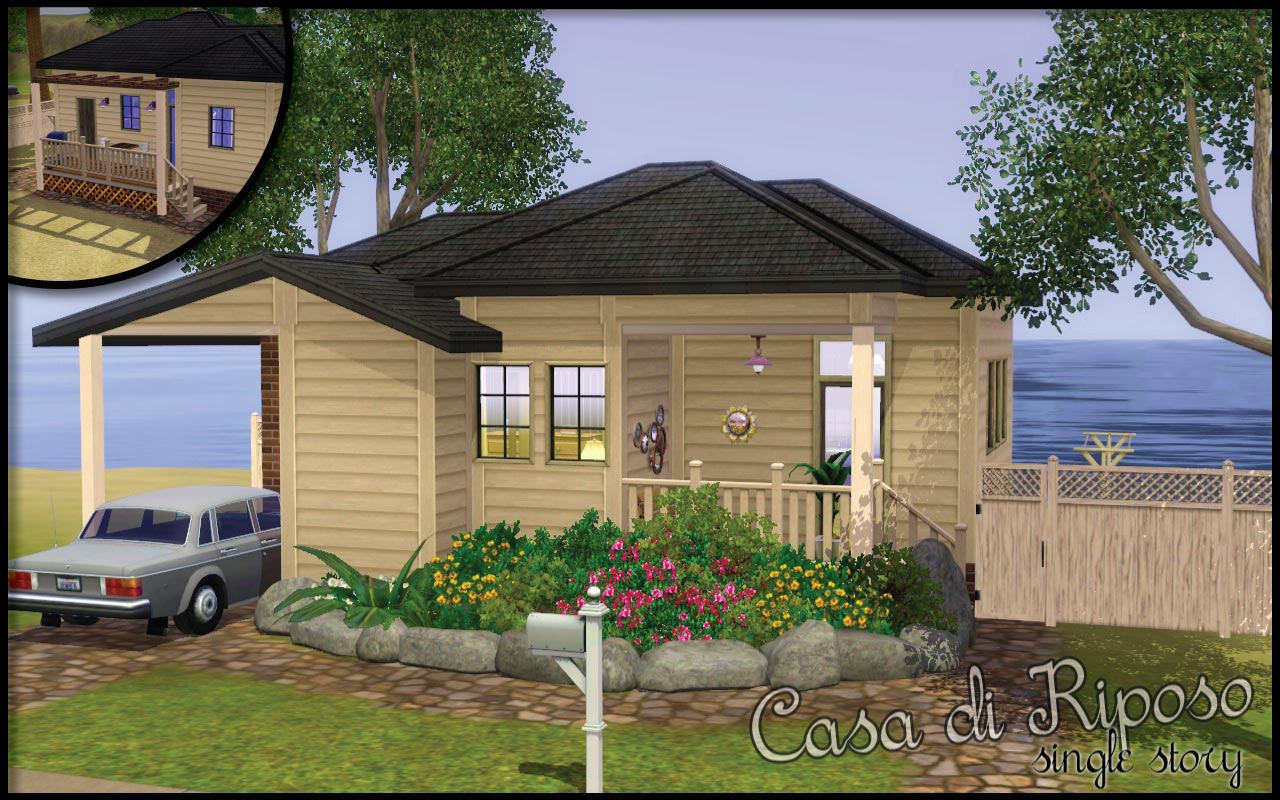 Mod the sims casa di riposo single and double story for Case di ranch single story
