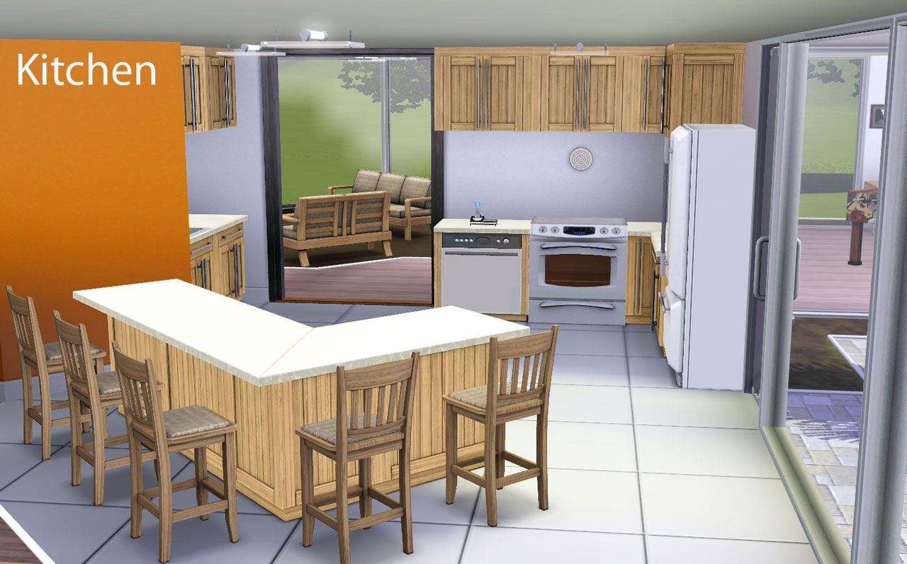 Mod the sims 1 stone and stucco blvd 2br 3bath for Modern kitchen sims 3