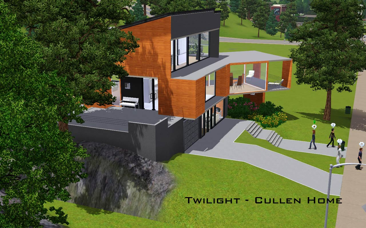 Cullens House From Twilight mod the sims - twilight - the cullen home