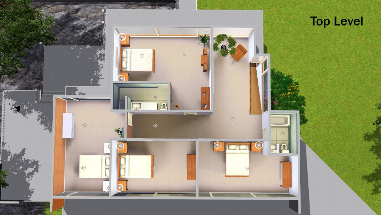 Mod The Sims Twilight Cullen Home Now With 4 Bedrooms