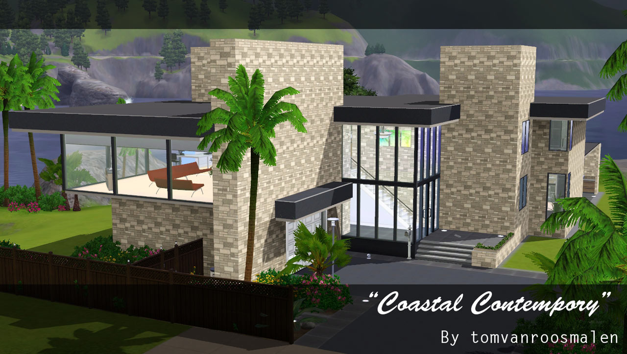 Mod the sims coastal contempory a try at minimalism for Premade floor plans