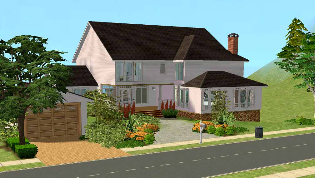 Mod the sims 1 lake road 3 bed family home fully for The family house