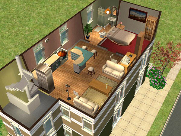 Mod the sims heron apartments fully furnished 1 for Apartment design sims 3