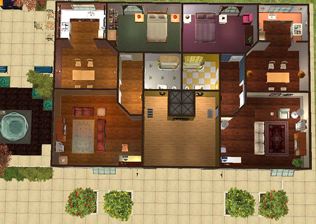 Mod The Sims Wood House Apartments No Cc
