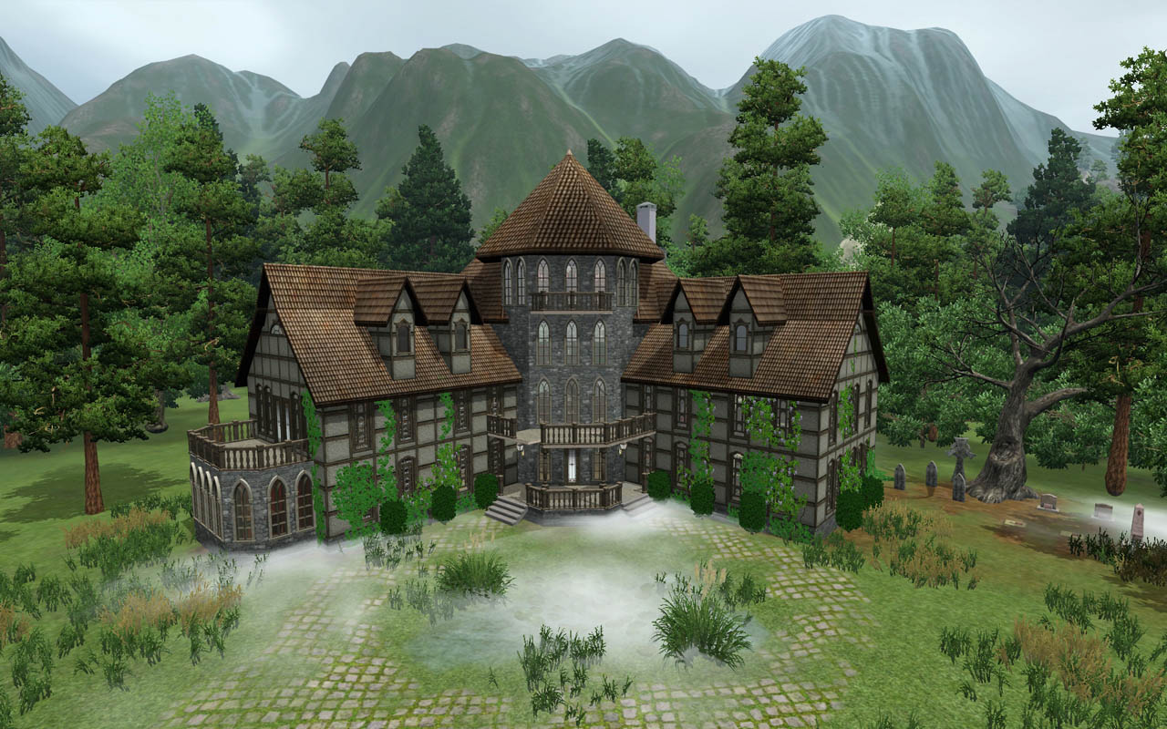 Downloads / Sims 2 / Lots / Apartment Lots - 'haunted house'
