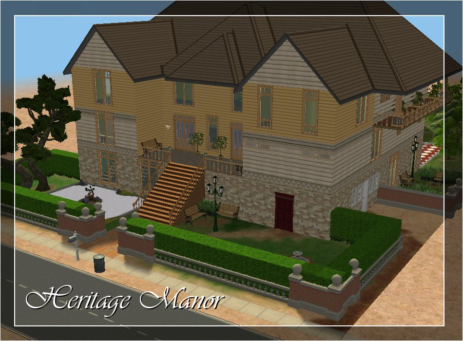 Mod The Sims Heritage Manor Luxury Elder Care Home No Cc