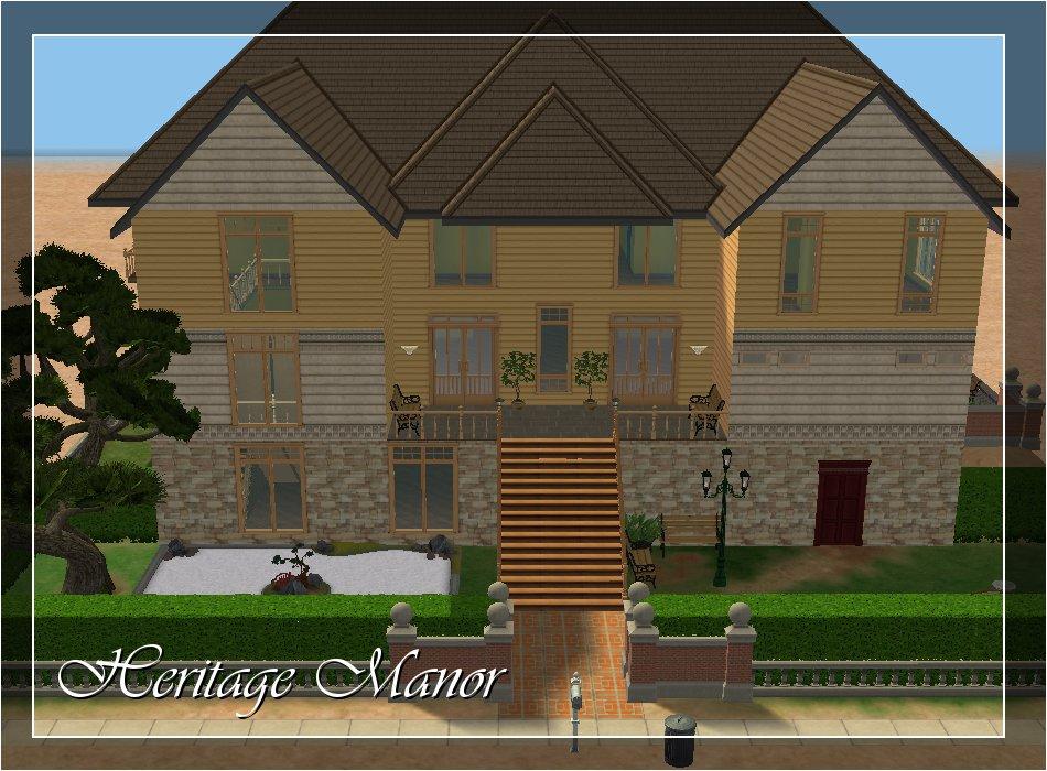 Mod The Sims Heritage Manor Luxury Elder Care Home No Cc