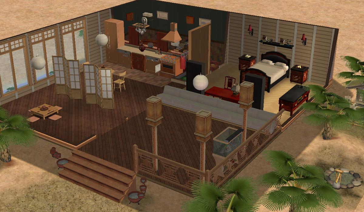 75 best Asian Sims 2: Living Room images on Pinterest