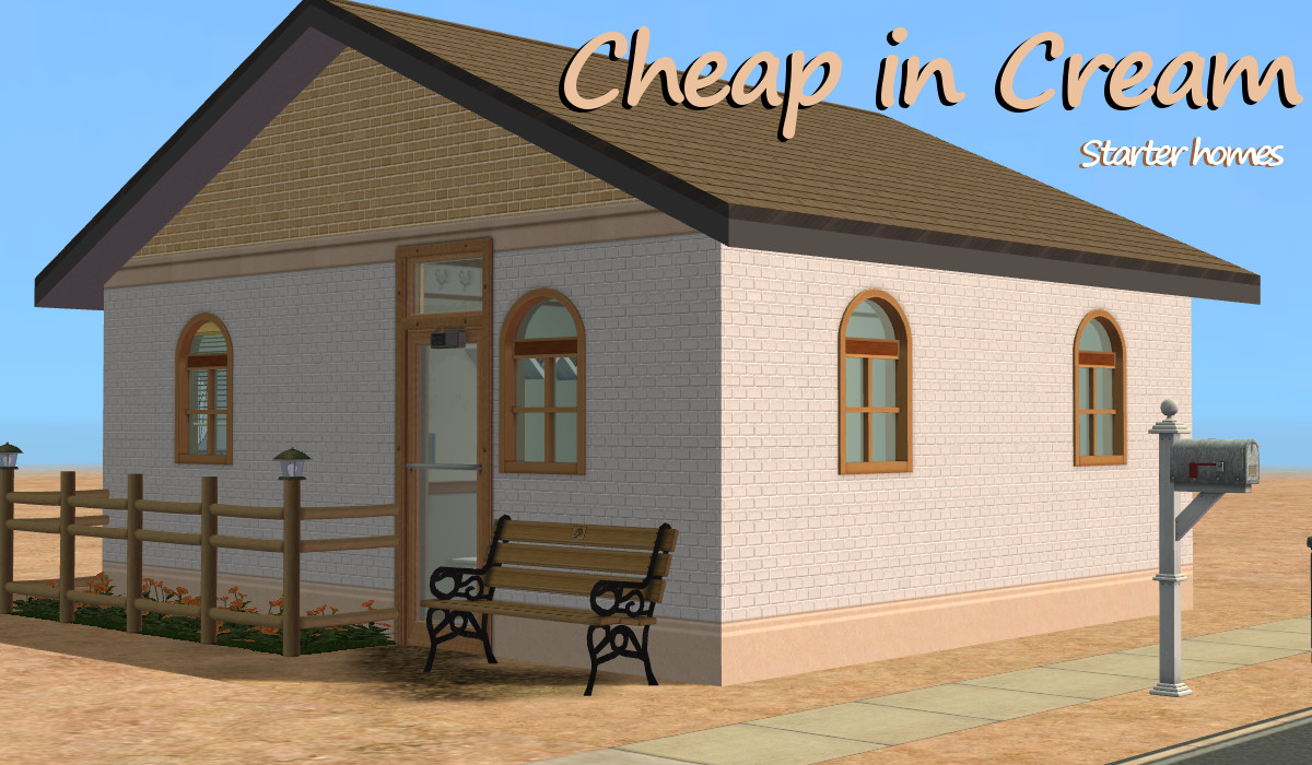 mod the sims cheap in cream starter home no cc