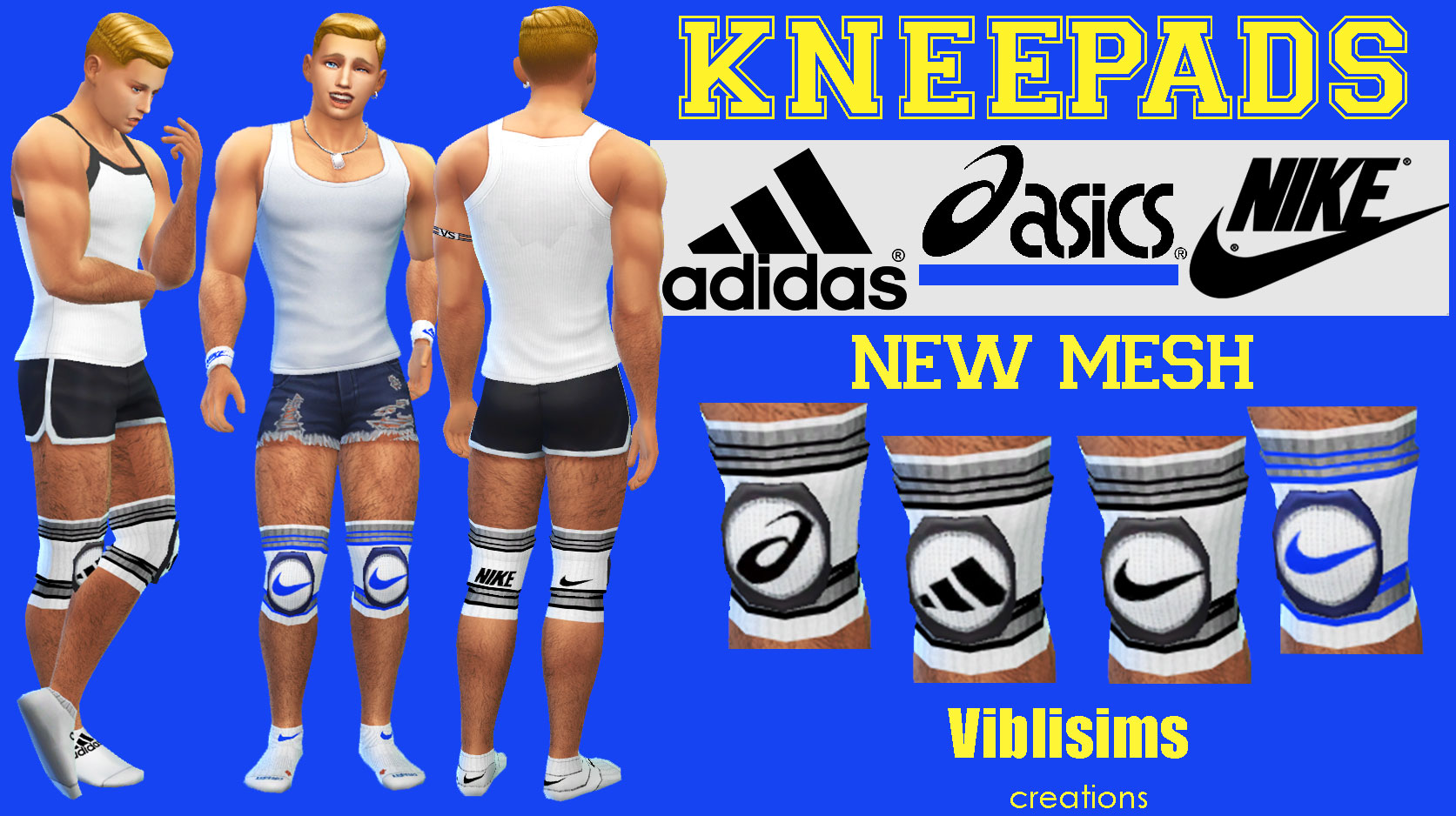 bonita y colorida el mejor último Mod The Sims - KNEEPADS. Adidas, Asics and Nike