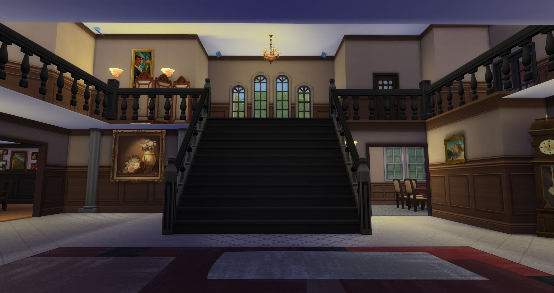 Mod the sims 2 mansion castle lane 4 bedroom 4 for 10 bedroom mansion