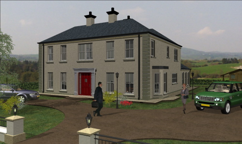 Mod the sims an maorga main ar traditional irish home for Irish home designs