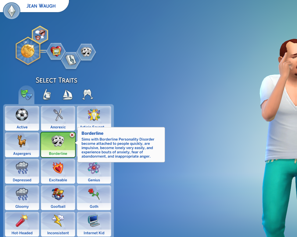 Mod The Sims - Borderline Personality Disorder Custom Trait (Cats