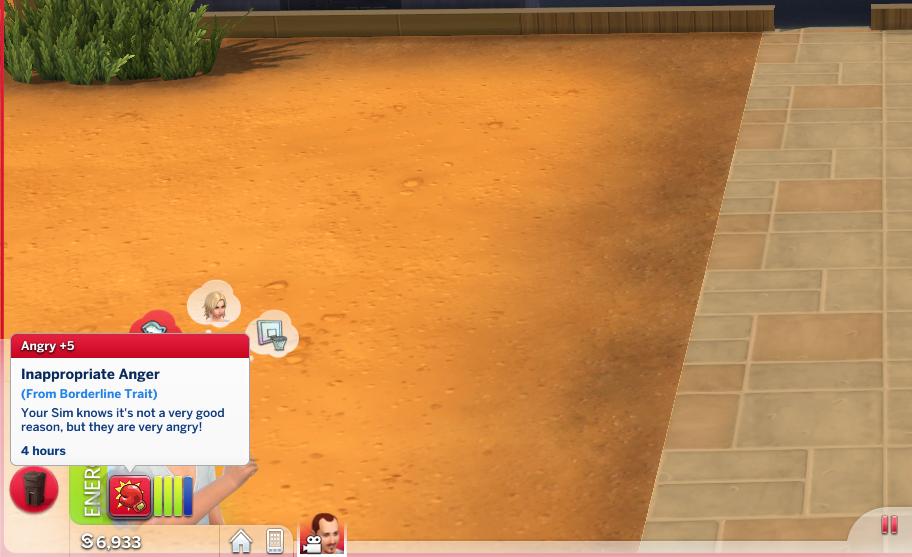 Mod The Sims - Borderline Personality Disorder Custom Trait