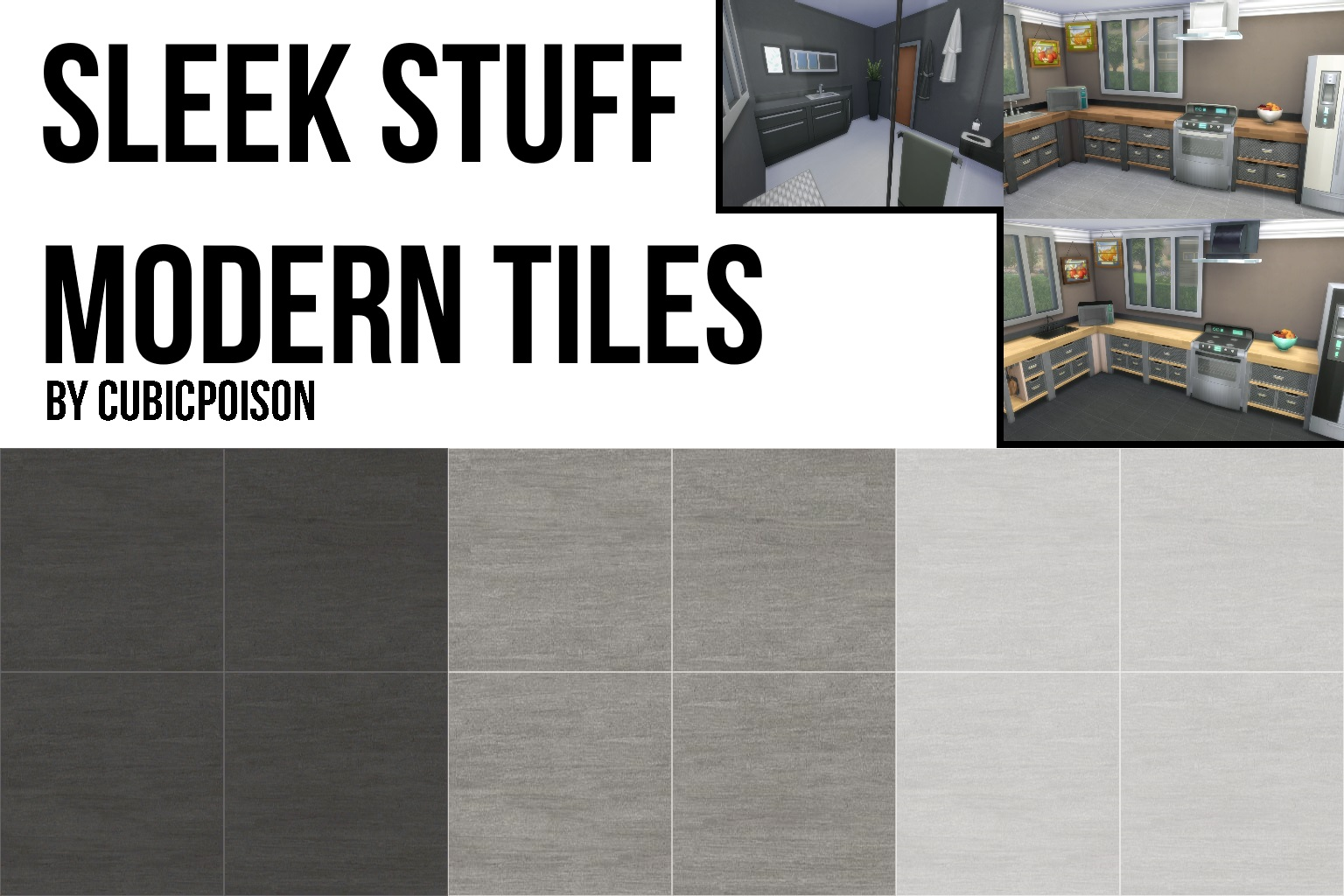 Mod The Sims Sleek Stuff Modern Tile