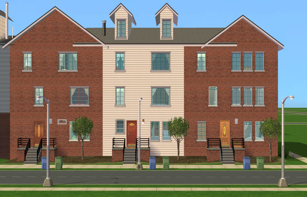 Mod The Sims European Townhouses Multi Versions