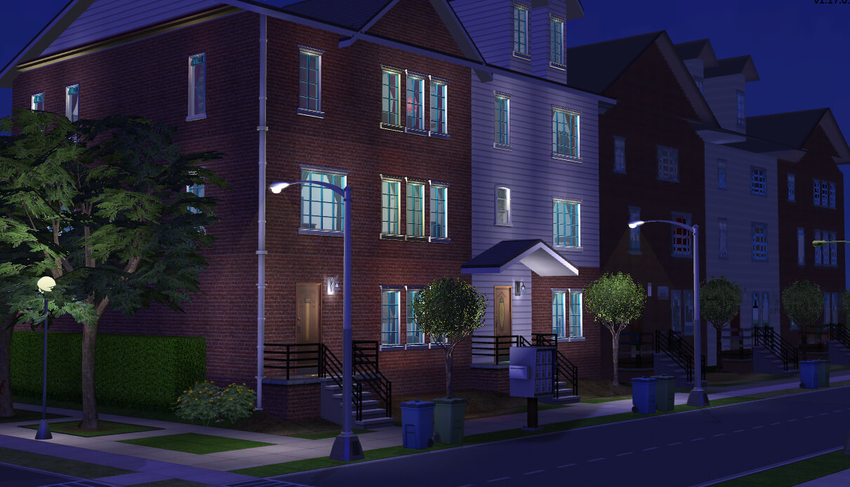 Mod the sims european townhouses multi versions for European townhouse