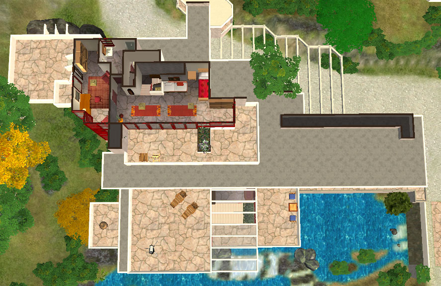 Mod The Sims Frank Lloyd Wright S Quot Fallingwater Quot