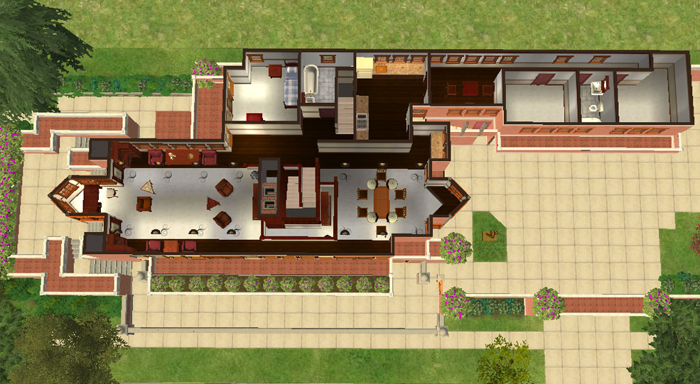 Mod The Sims Frank Lloyd Wright S Quot Robie House Quot