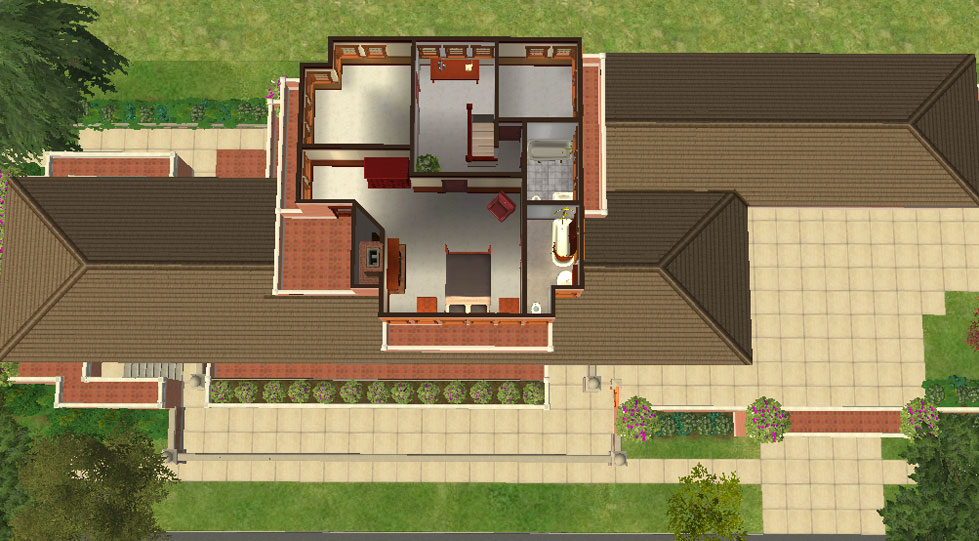 "Mod The Sims Frank Lloyd Wright s ""Robie House"""