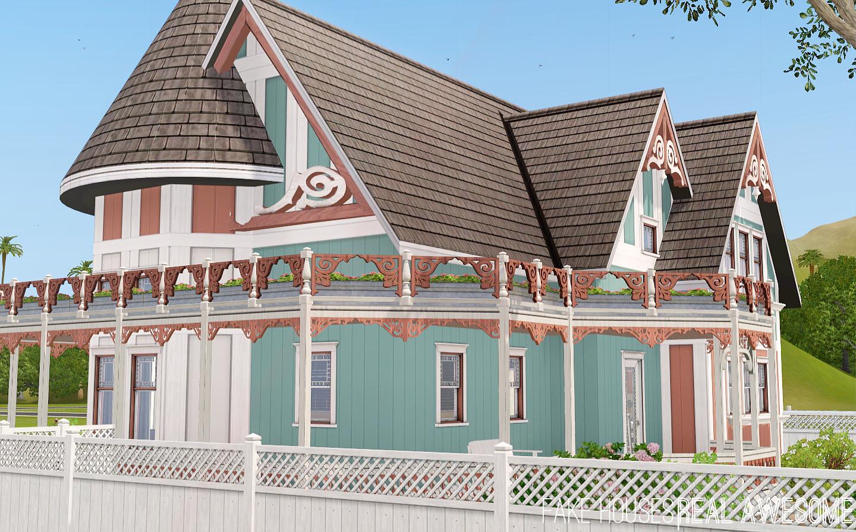 mod the sims netley house queen anne victorian