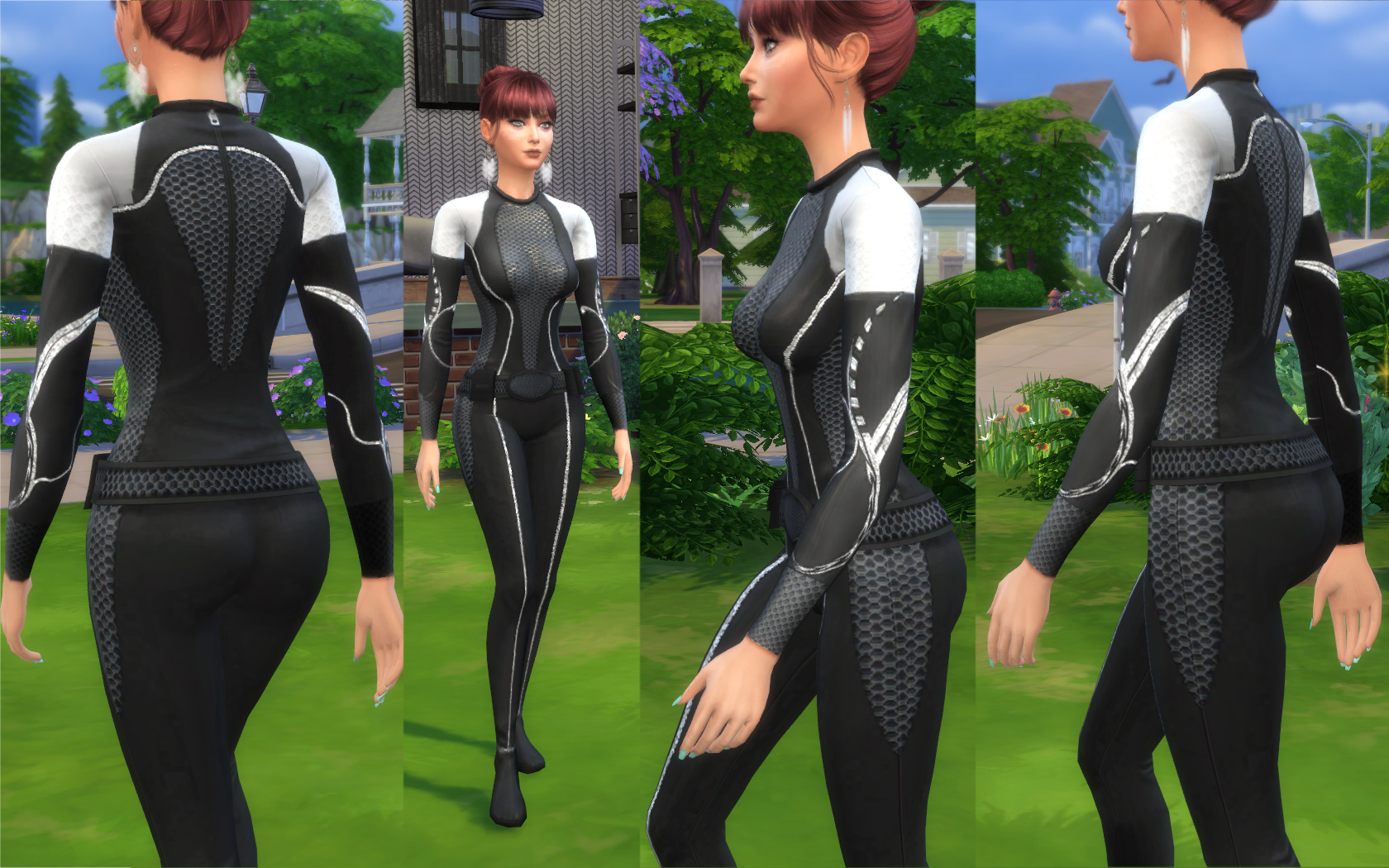 Mod The Sims - The Future Is Here - Female Hunger Games Jumpsuit