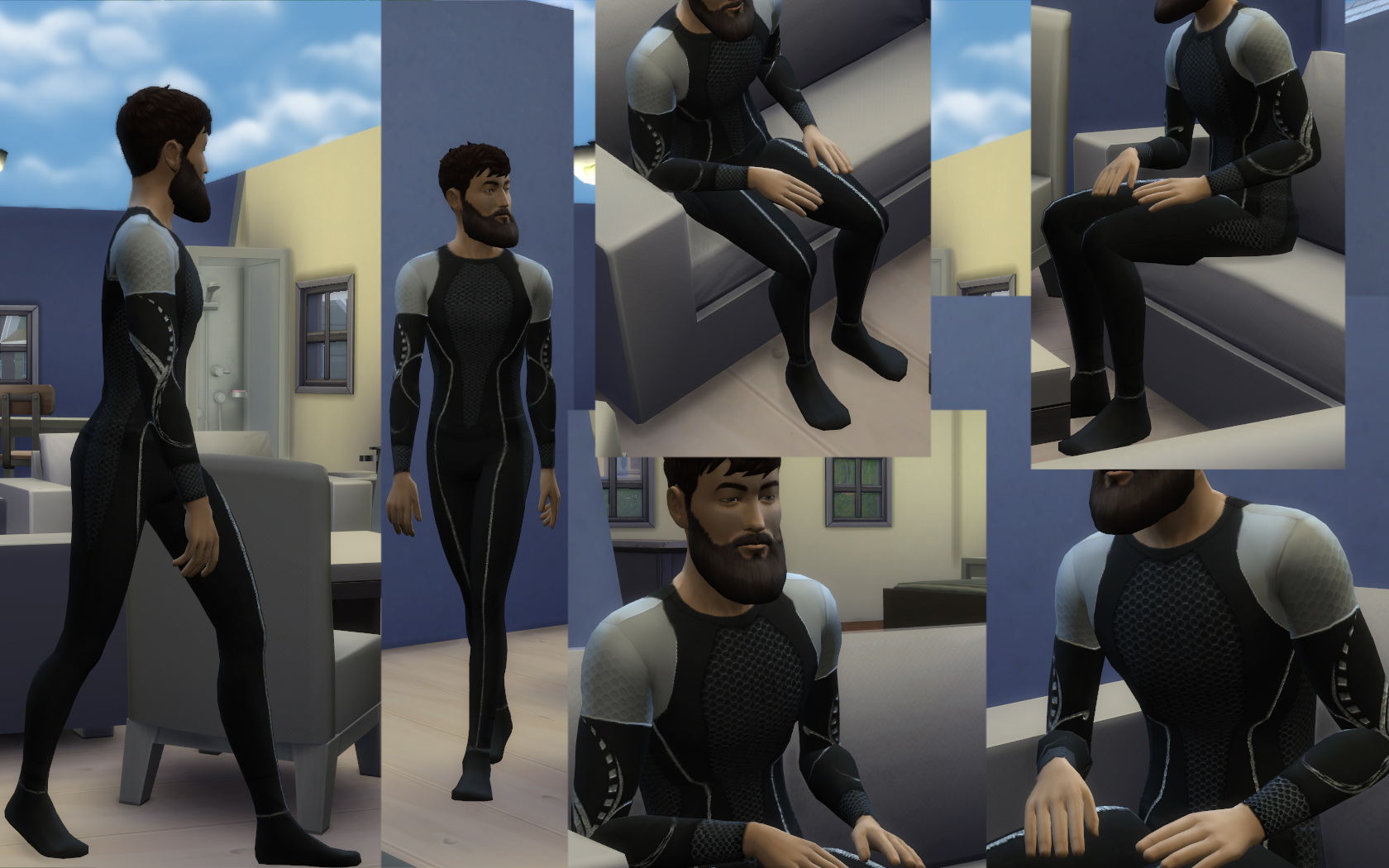 Mod The Sims - Male Hunger Games Top and Bottom