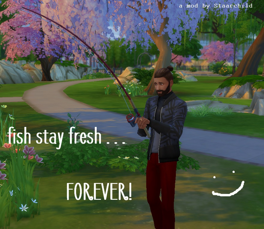 Mod the sims fish stay fresh forever for Sims 4 fishing