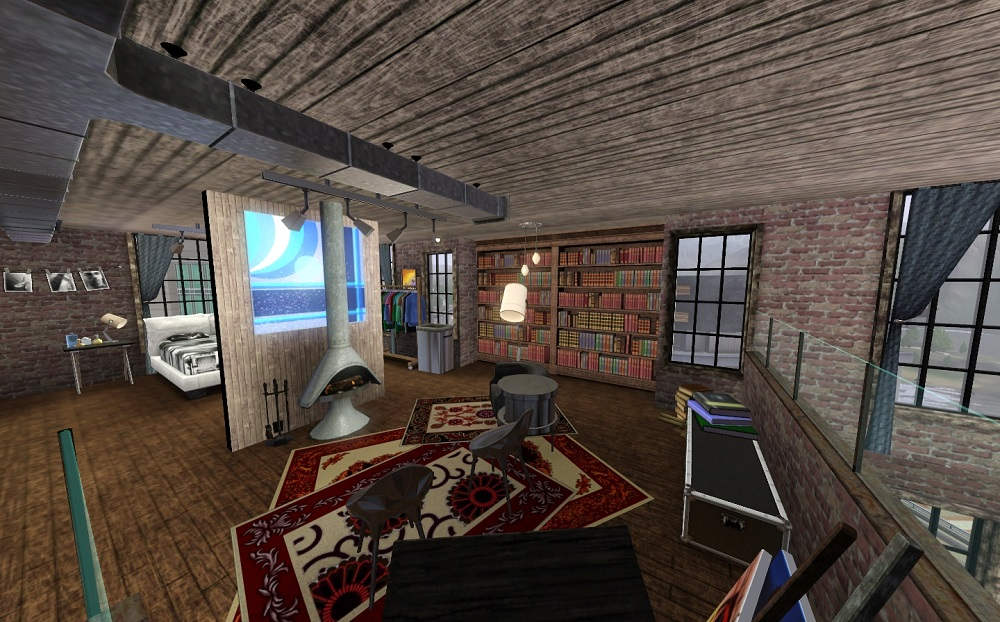 Calendar Vintage : Mod the sims third long warehouse lofts