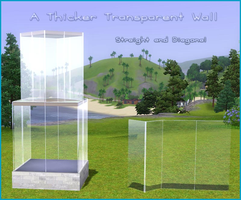 mod the sims - a thicker transparent wall