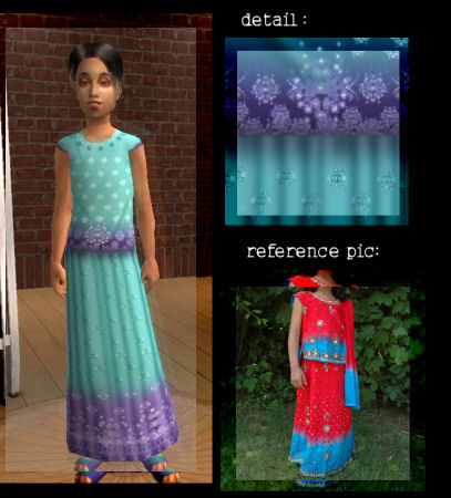 Mod The Sims Indian Clothing For Sim Girls Gt Lehenga Choli
