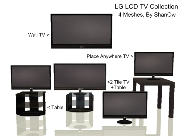 Mod The Sims 3 Lg Tv S Table Any Surface Tv Included