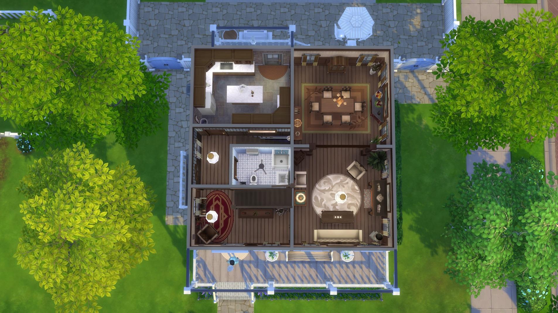 Mod the sims little big house no cc for Little big house plans