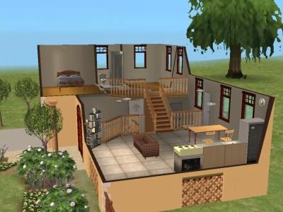 Mod the sims yesteryear split level family starter for 4 level backsplit house plans