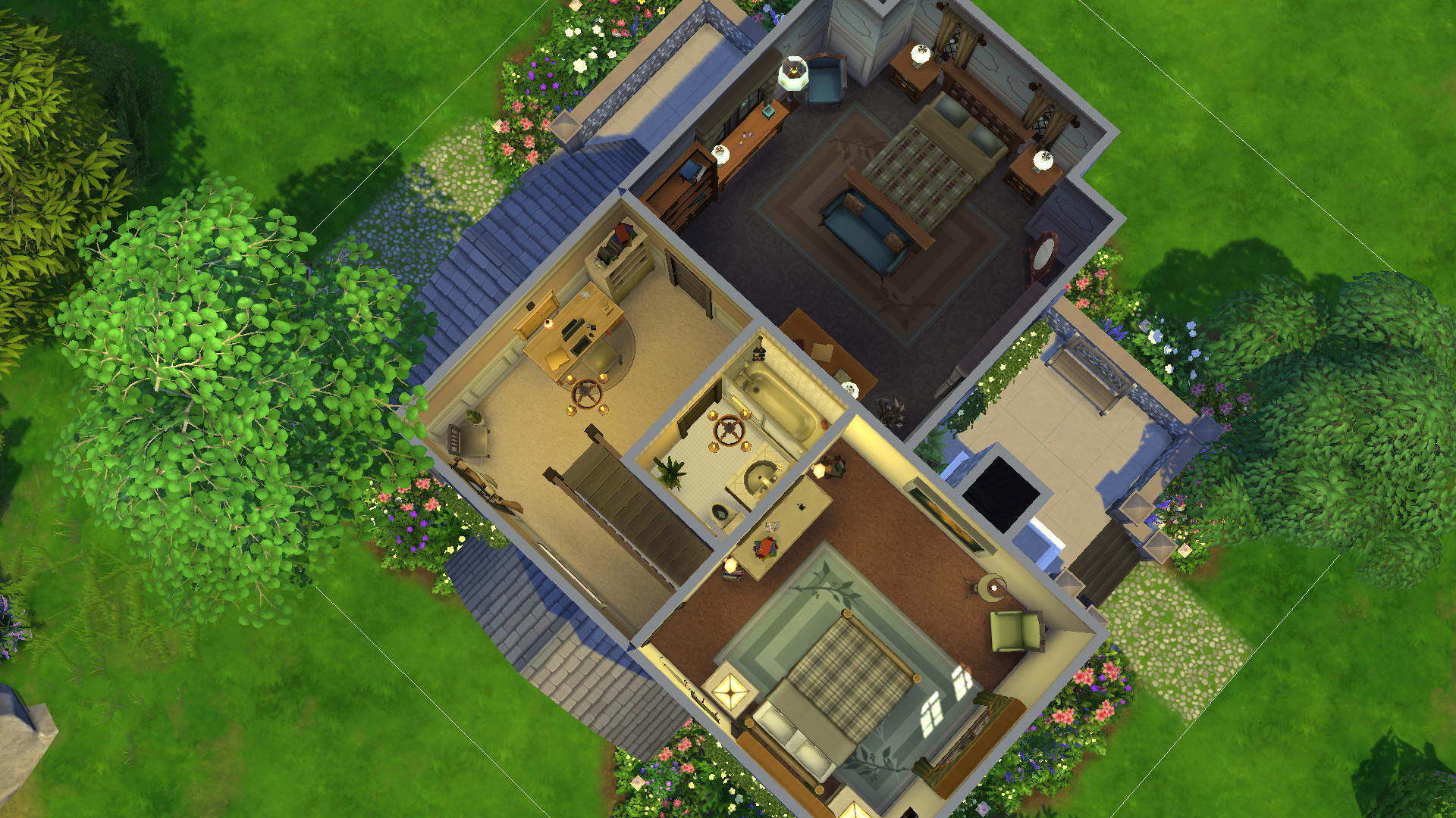 Mod The Sims Woodland Cottage 2bed 2bath