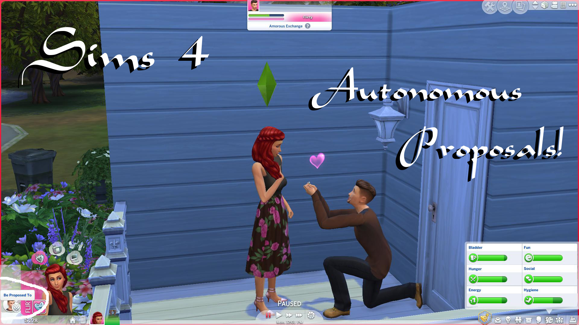Mod The Sims - Autonomous Proposals!