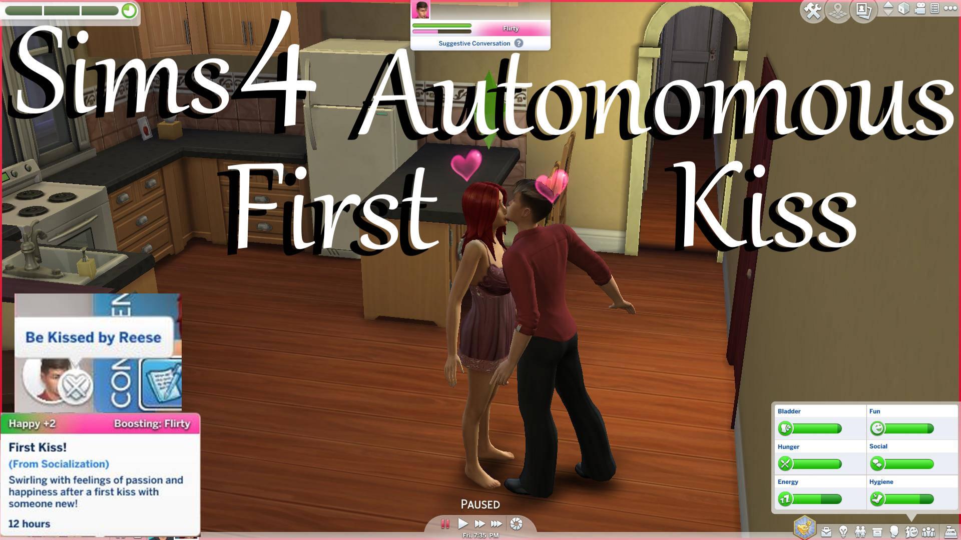 Mod The Sims - Autonomous First Kiss!