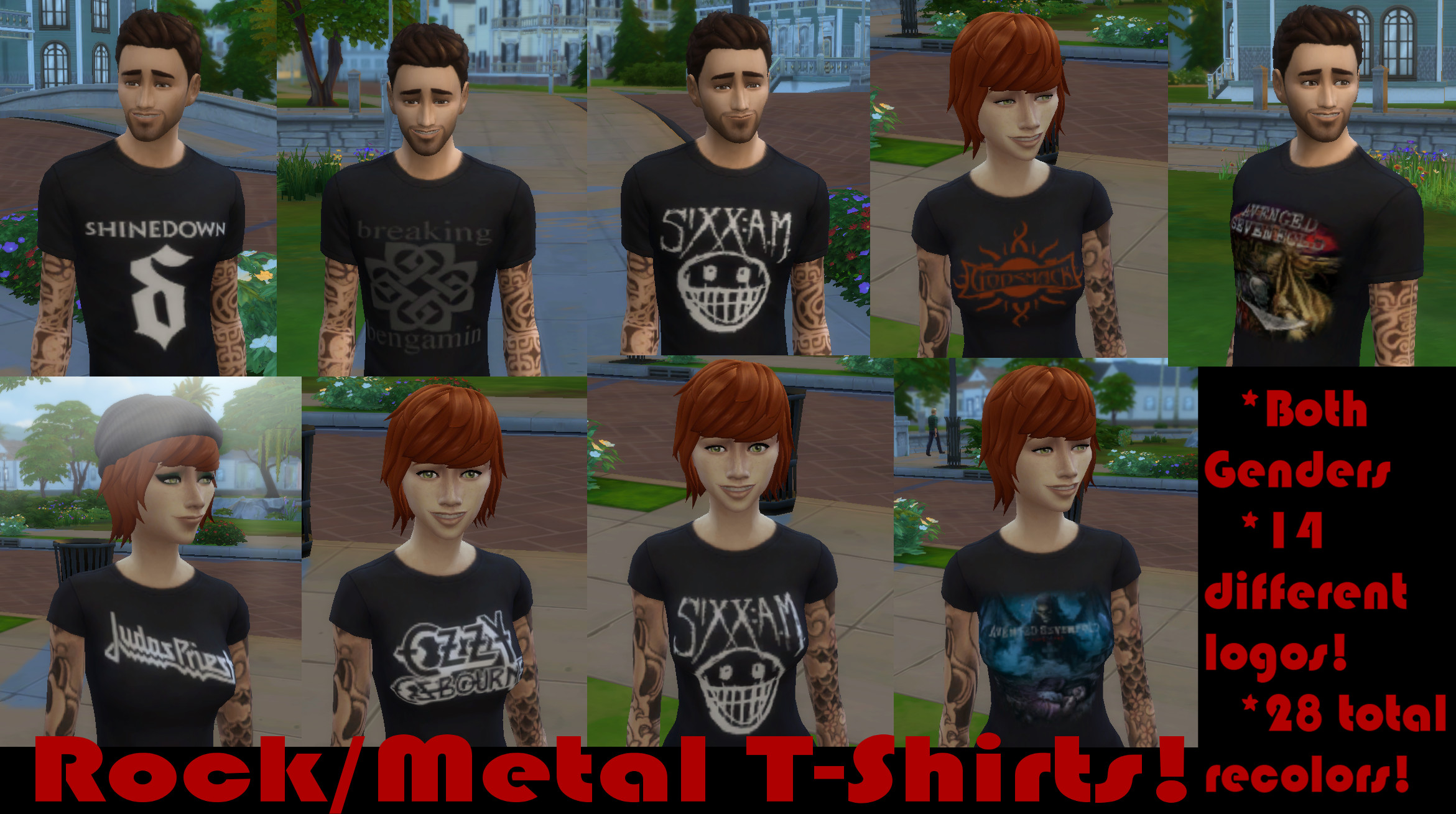 c3d7ffdf7 Mod The Sims - Rock/Metal T-Shirts (Both Genders :))