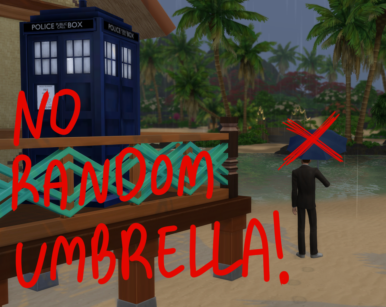 Mod The Sims - No Random Umbrella