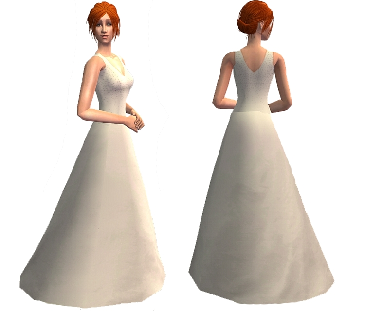 Mod The Sims - The Runaway Bride - wedding dress (Donna Noble)