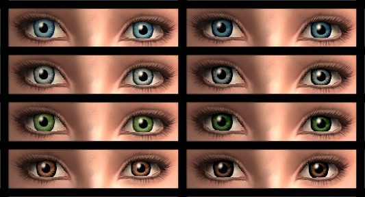 Mod The Sims - S...Dark Grey Green Eyes