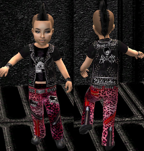 Mod The Sims - Mommy's Little Monsters - Punk Rock Toddler ...